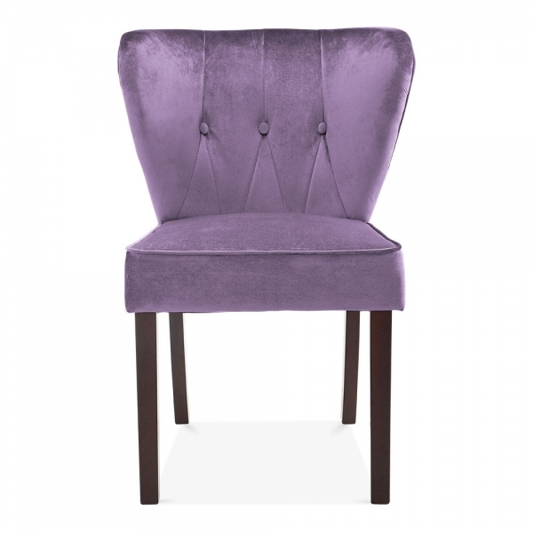 Dining Chair Clearance: Purple Velvet Upholstered Chancery Dining Chair