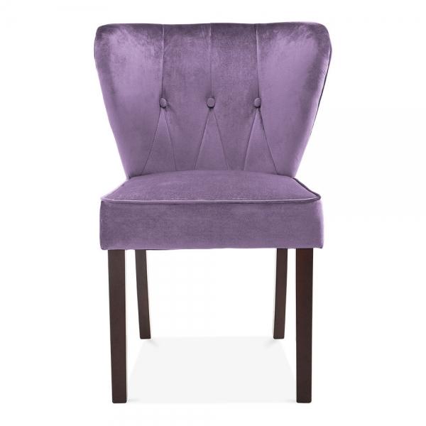 Purple Velvet Upholstered Chancery Dining Chair