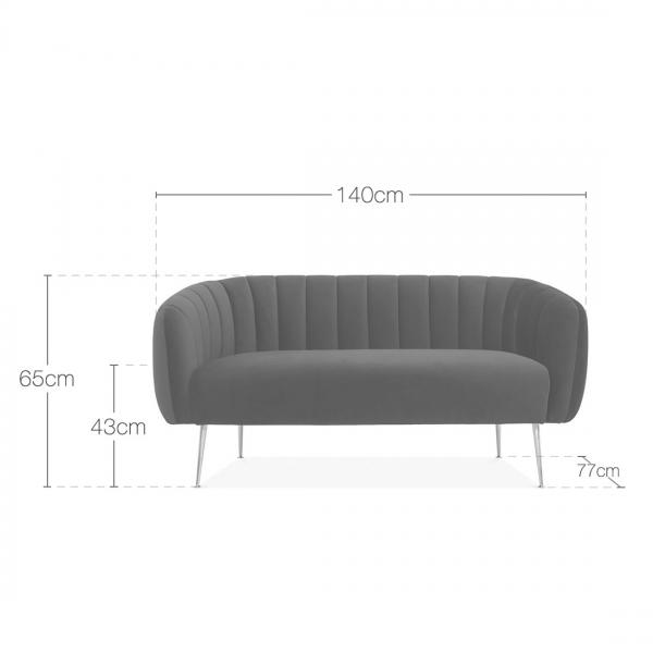 Pink Effie Velvet Upholstered 2 Seater Sofa Modern Sofas