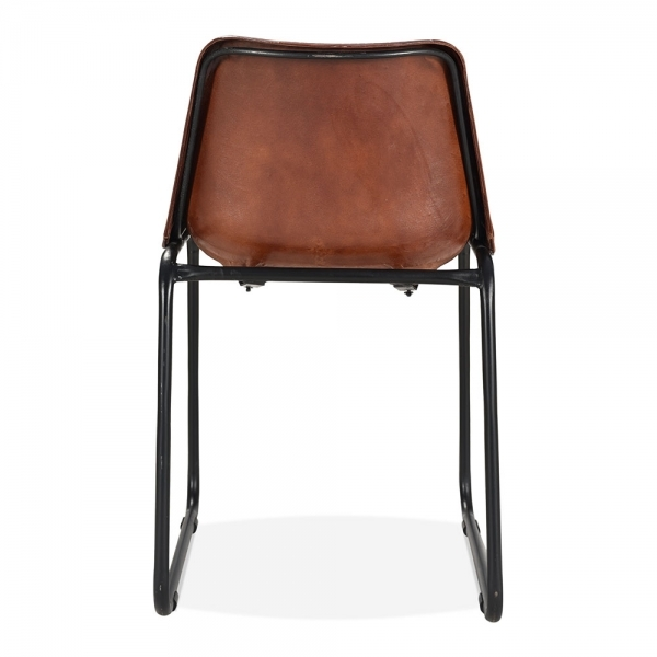 industrial metal dining chairs. cult living maxwell industrial dining chair, leather upholstered, brown metal chairs a