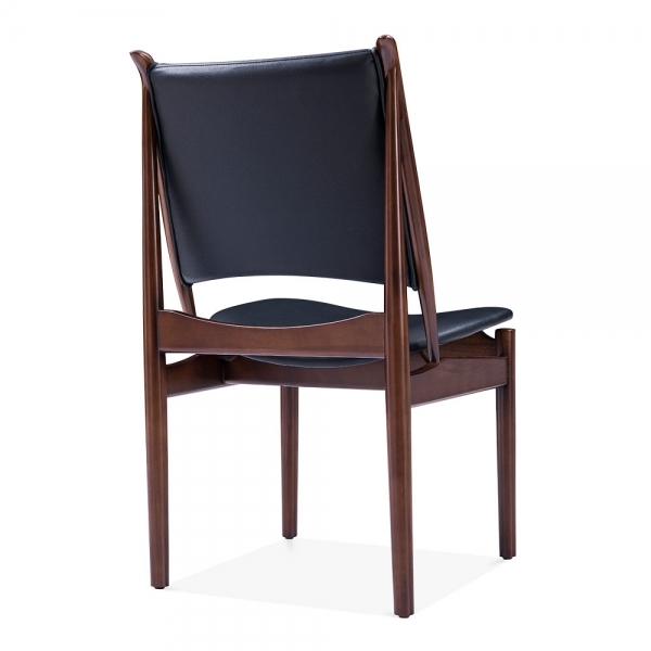 Black Leather Kitchen Chairs: Black Faux Leather Jonah Dining Chair