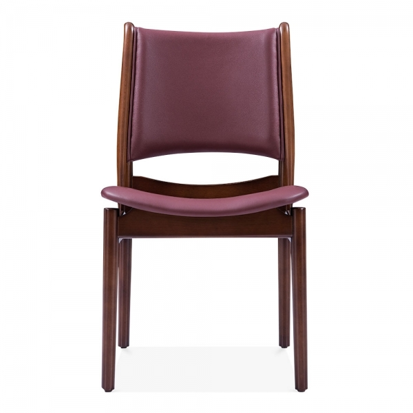 Deep Red Leather Sofas: Deep Red Faux Leather Jonah Dining Chair