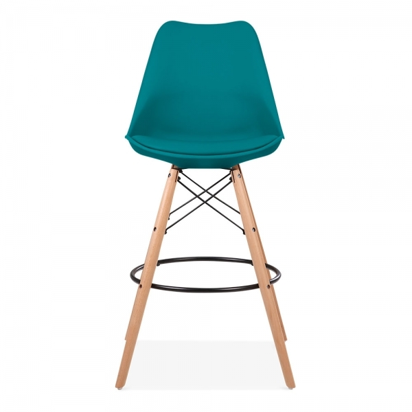 Marine Blue 65cm Bar Stool With Eames Style Leg Counter