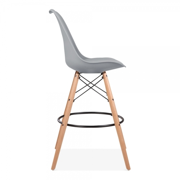 Cool Grey 65cm Bar Stool With Eames Style Leg Counter