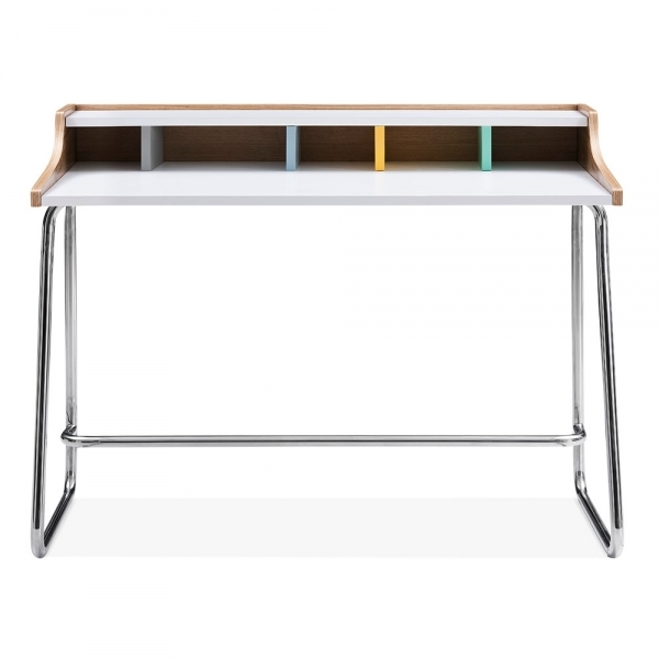 Pastel And Chrome Phoenix Wooden Desk Office Furniture