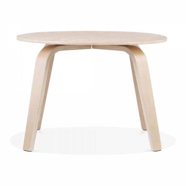 Natural Birch Wood Ella Round Coffee Table Small Coffee Tables