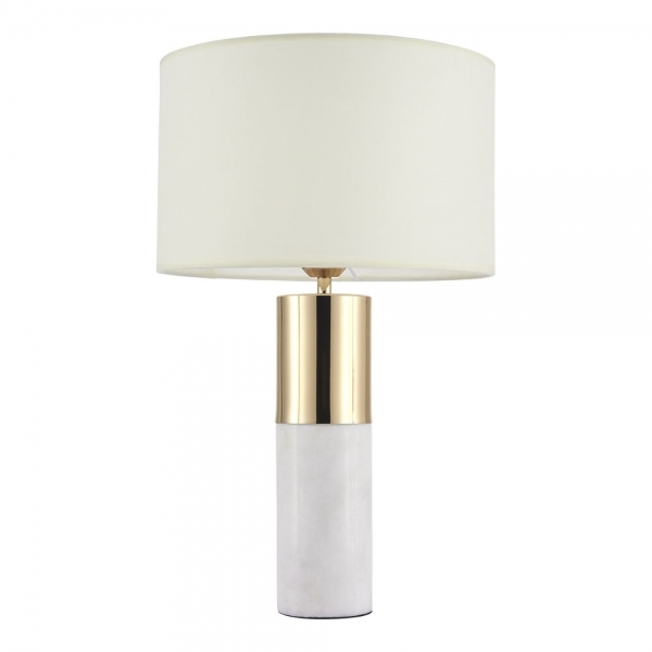 White Marble and Gold Upton Table Lamp | Modern Table Lights