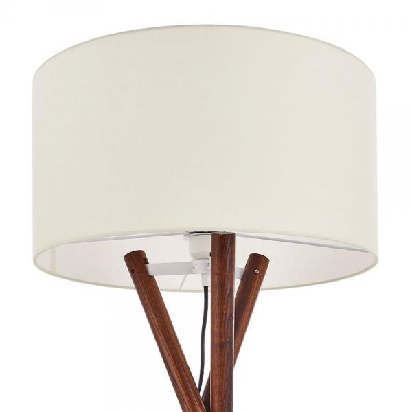 Walnut Finish Albany Wooden Tripod Floor Lamp Modern