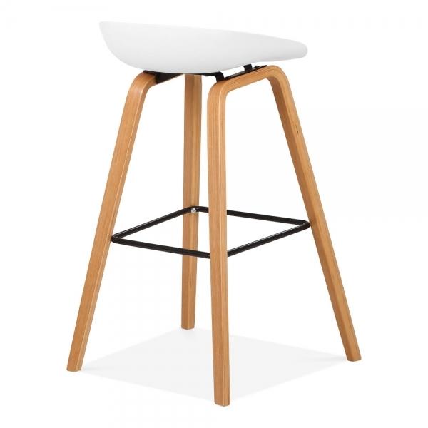 White milano bar stool natural wood leg 72cm kitchen bar for White bar milano