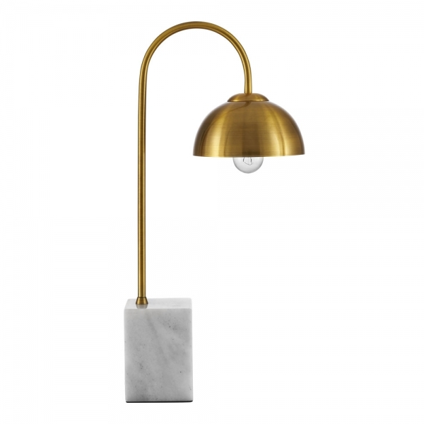 Brass Conway Arc Table Lamp With Marble Base Modern Lighting