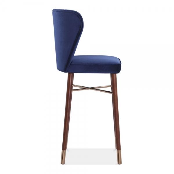 Royal Blue Velvet Upholstered Noa Bar Stool Luxury