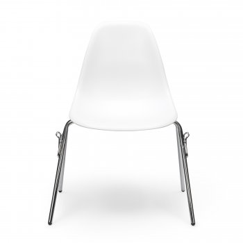 Charles Eames Style White DSS Chair (Stackable)