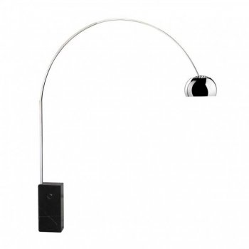 Medium Arco Style Floor Lamp Black Cult Uk