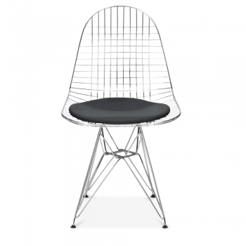 Iconic Designs Style Chrome DKR Wire Chair