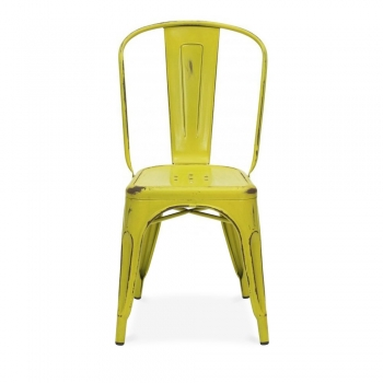Xavier Pauchard Yellow Vintage Tolix Style Side Chair