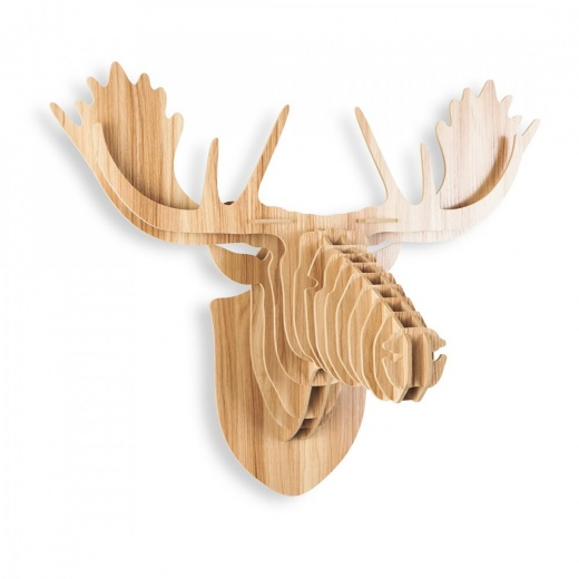 Safari Life 3D Wall Art, Wooden Animal Head, Moose