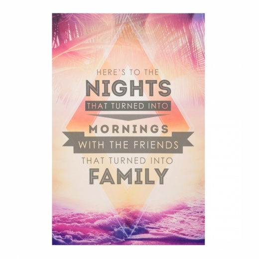Cult Living Framed Wall Art Typography, Family