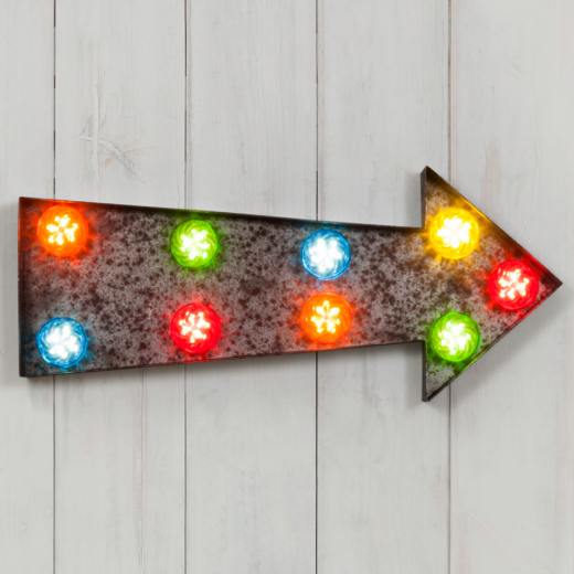 "Marquee Turbo 19"" Multi-Coloured Light - Arrow"
