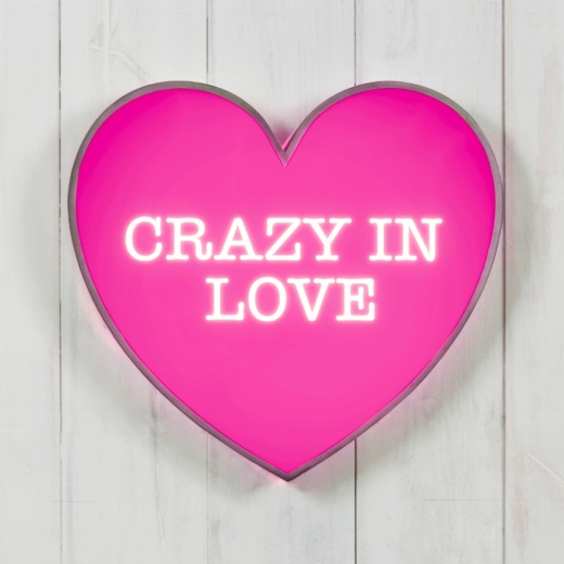 "Cult Living Metal 13"" Light Up Heart - Crazy In Love"