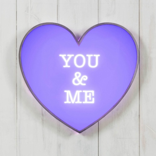 "Cult Living Metal 13"" Light Up Heart - You & Me"