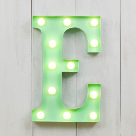 "Vegas Metal 11"" Mini L.E.D. Letter Lights E - Choice of Colour"
