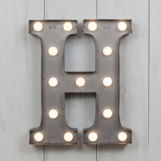 H Vegas Metal 11 Mini LED Letter Lights Marquee Letters