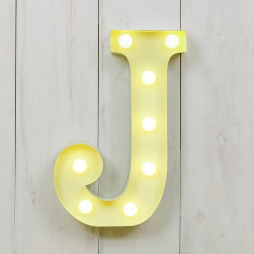 "Vegas Metal 11"" Mini L.E.D. Letter Lights J - Choice of Colour"