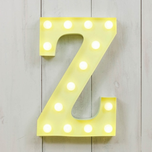 "Vegas Metal 11"" Mini L.E.D. Letter Lights Z - Choice of Colour"