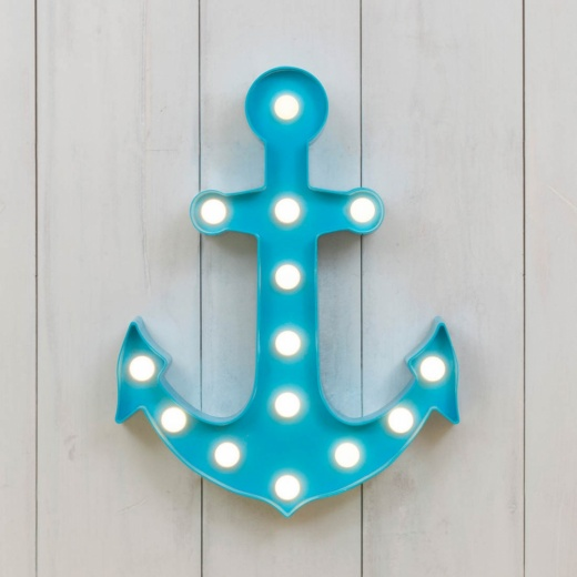 Vegas L.E.D. Plastic Anchor Light - Sky Blue