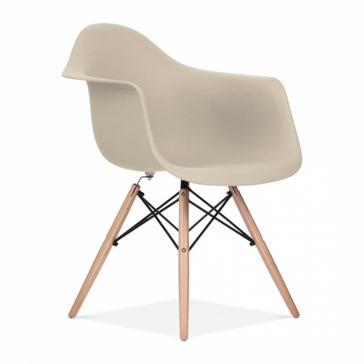 Iconic Designs Beige DAW Style Chair