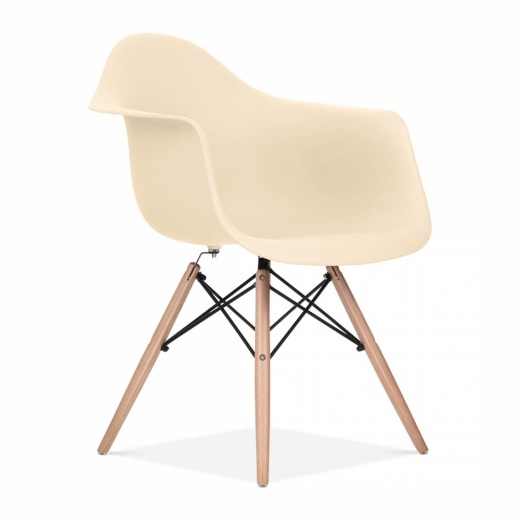 Iconic Designs Cream DAW Style Chair
