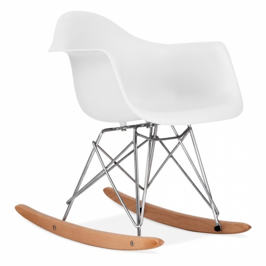 Iconic Designs White Kids RAR Rocker Chair