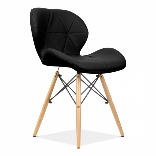 eames inspired upholstered black butterfly dining chair cult uk. Black Bedroom Furniture Sets. Home Design Ideas