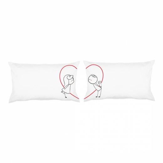 Love Story Pillow Gift Set - First Kiss