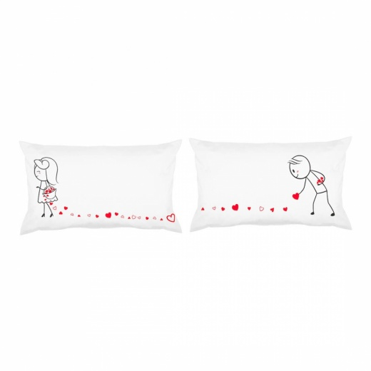 Love Story Pillow Gift Set - Pieces of my Heart
