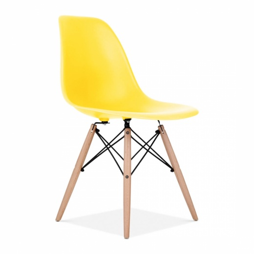Iconic Designs Yellow DSW Style Chair
