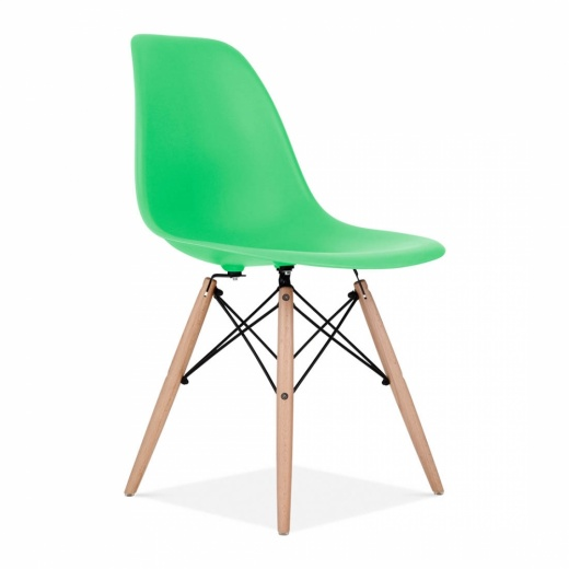 Eames Style Bright Green DSW Chair Cafe Dining Chairs