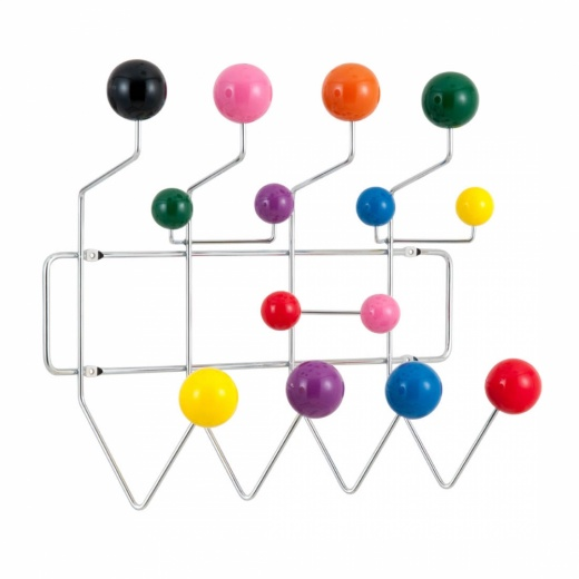 Eames Inspired Hang It All - Limited Edition Chrome Frame With Multi-Coloured Balls