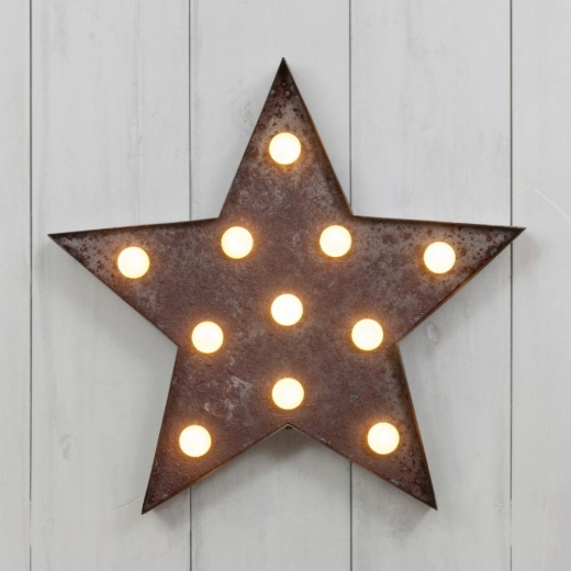 "Vegas Metal L.E.D. 13"" Light Up Star"