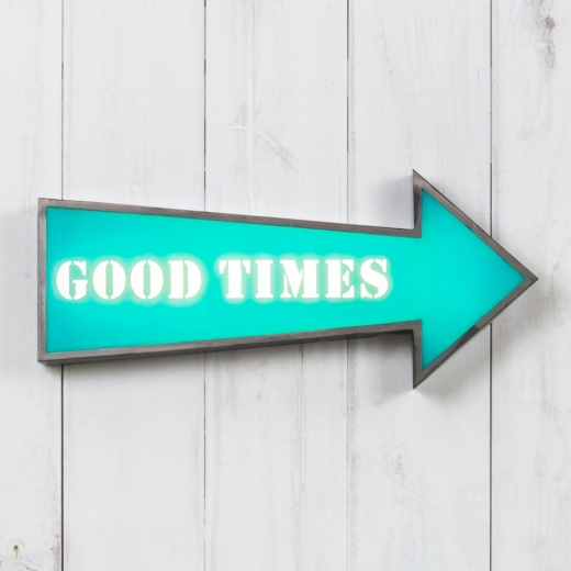 "Cult Living Metal 16"" Arrow Light Box - Good Times"
