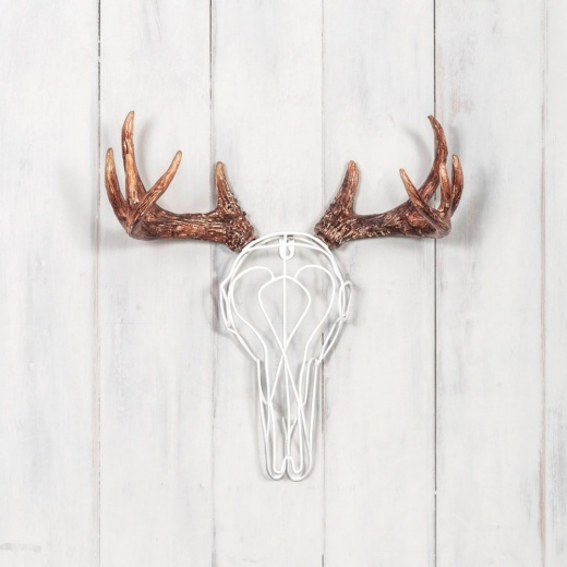 Cult Living Wire Deer Skull - White