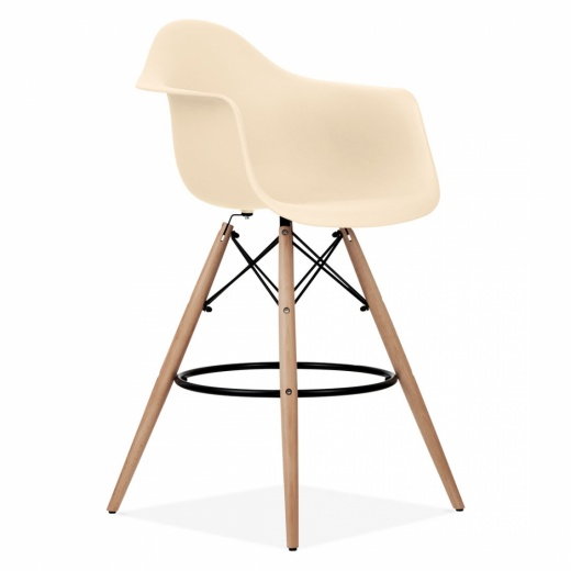 Iconic Designs DAW Style Stool - Cream 68cm - Clearance Sale