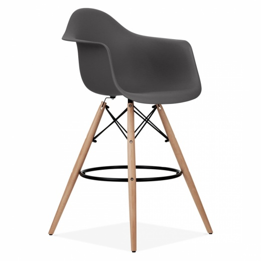 Iconic Designs DAW Style Stool - Dark Grey 68cm