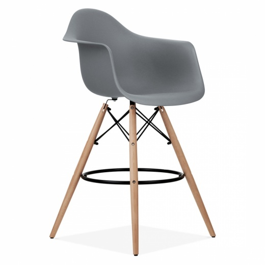 Iconic Designs DAW Style Stool - Cool Grey 68cm