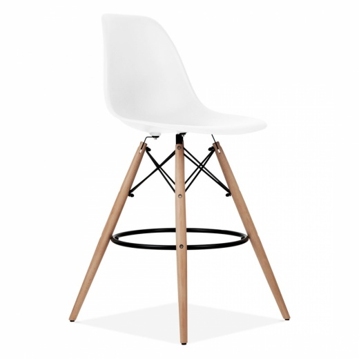 Iconic Designs Eames Style DSW Stool - White 71 cm