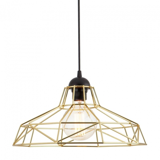 Edison Industrial Harlow Cage Light - Gold - Clearance Sale