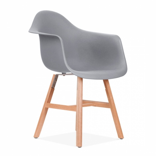 Eames Inspired DAW Side Chair With Windsor Style Legs – Cool Grey
