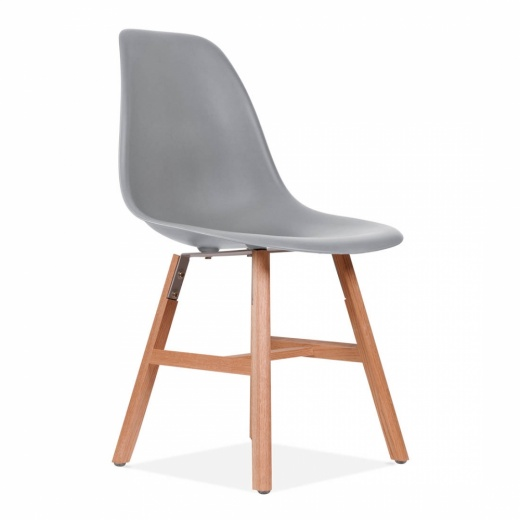 Eames Inspired DSW Side Chair With Windsor Style Legs - Cool Grey - Clearance Sale