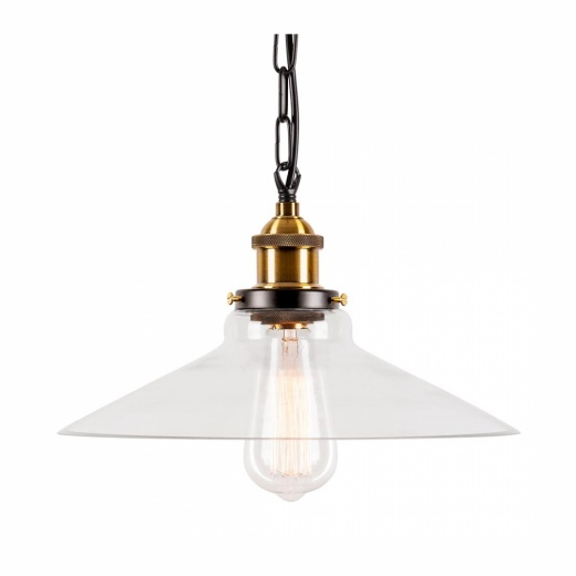 Cult Living Industrial Strasbourg Glass Pendant Lamp With Chain Hang