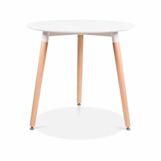 Cult Living Edelweiss Table With Beech Wood Legs – Diameter 80cm